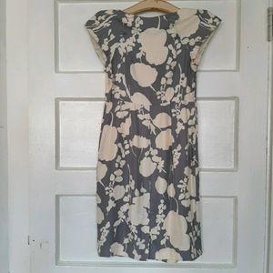 Boden Floral 100% Silk Sheath Midi Dress